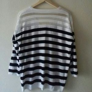 Nordstrom Tops - NORDSTROM Black and White Cotton Silk Viscose Sz M